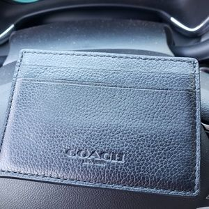 Coach mens money clip/wallet